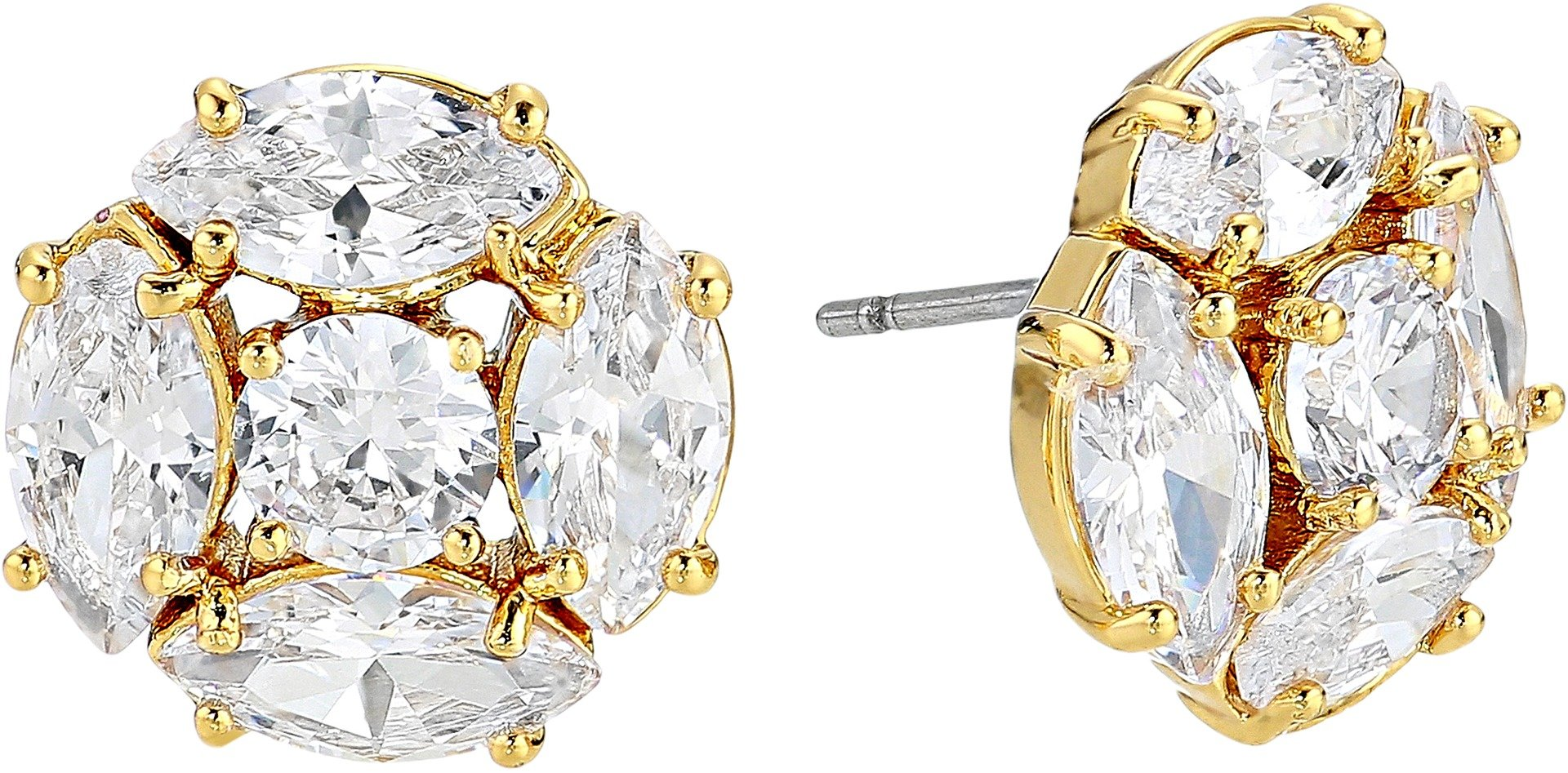 Kate Spade New York Women's Flying Colors Marquise Cluster Studs Earrings Clear/Gold One Size