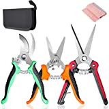 SUMYOUNG Pruning Shears,Garden Shears,3Pcs Garden Pruning Trimming Scissors,Plant Floral Flower Shears Scissors with Sharp an
