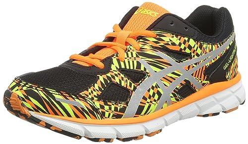 ASICS Gel-Lightplay 2 GS - Zapatillas de running, unisex ninos, color negro (black/silver/flash orange 9093), talla 37: Amazon.es: Zapatos y complementos