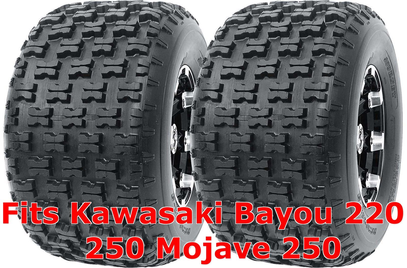 Set 2 WANDA Sport ATV Tires 22x10-10 Kawasaki Bayou 220 250 Mojave 250 Rear P336