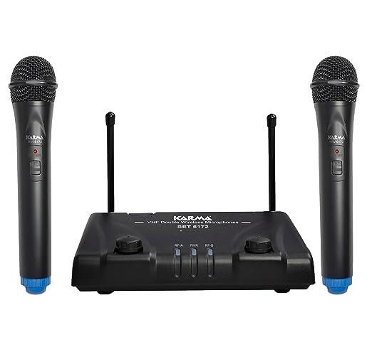 30 opinioni per Karma SET 6172A coppia radiomicrofoni vhf per karaoke, DJ, canto, presentazioni,