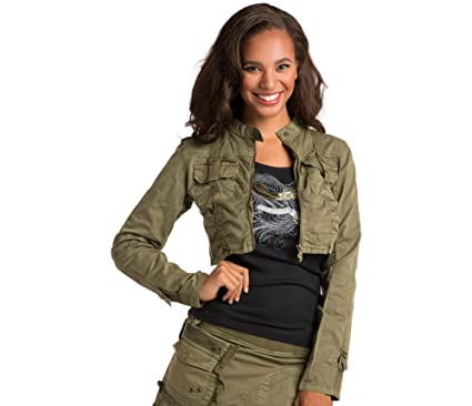 373092e819 Sweet Vibes Junior Womens Utility Jackets Stretch Twill Garment Dyed Lace  Strap Size S