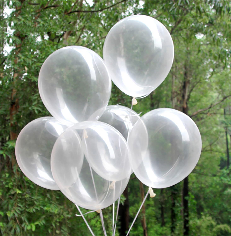 Beyond Dreams® 50 Globos Transparentes   decoración del Partido   Fiesta de cumpleaños   Boda   de Verano Fiesta   Globos cristalinos   Adulto niños   Aire o Helio