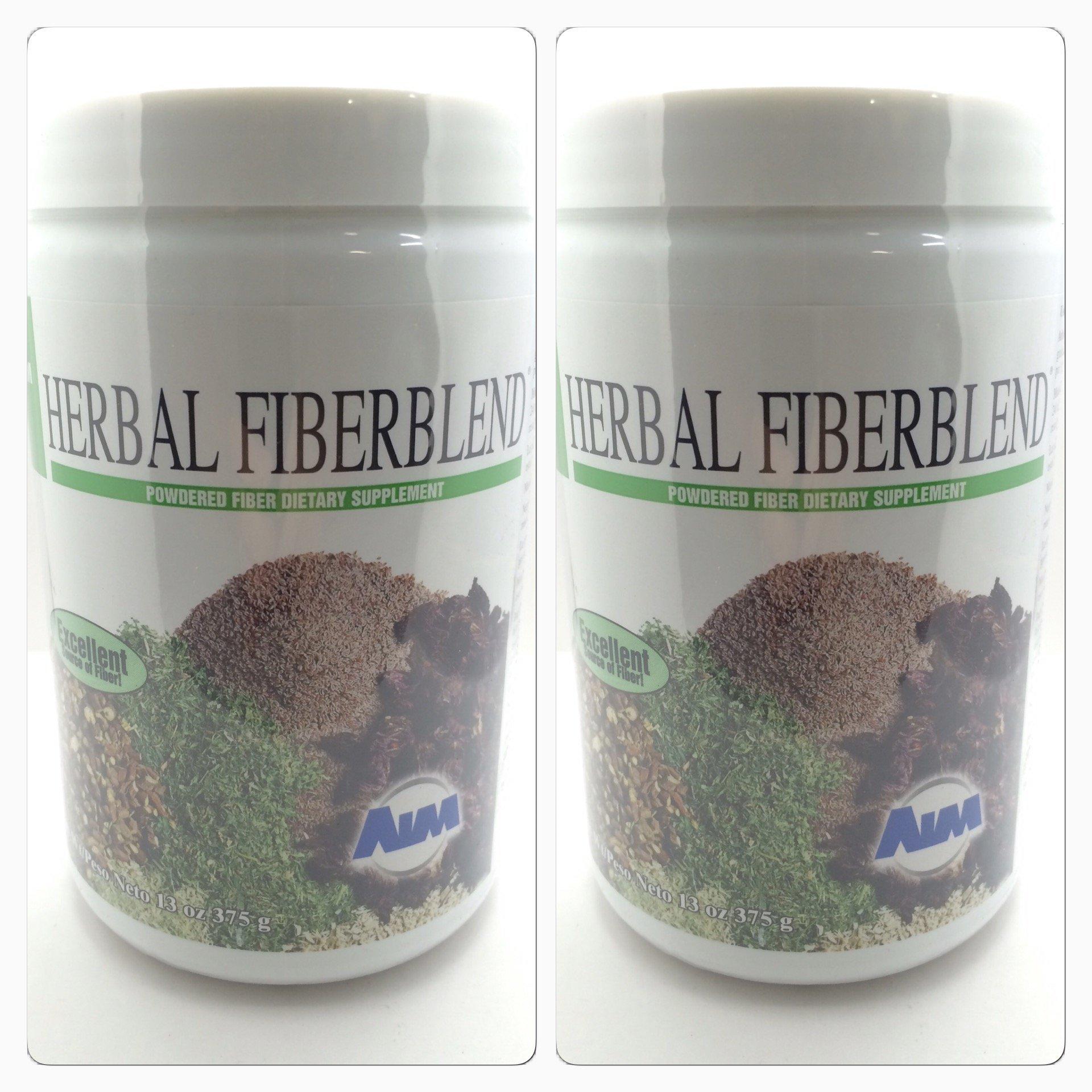 AIM Herbal Fiberblend Unflavored Powder 13 Oz (Two Pack)