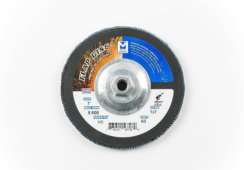 NEW Mercer Industries 263H060 Zirconia Flap High Density Disc Type Over item handling ☆