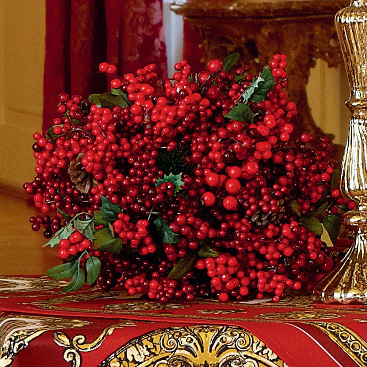 Exner Strauss Bouquet décoratif Rouge/Vert Ø 30 cm