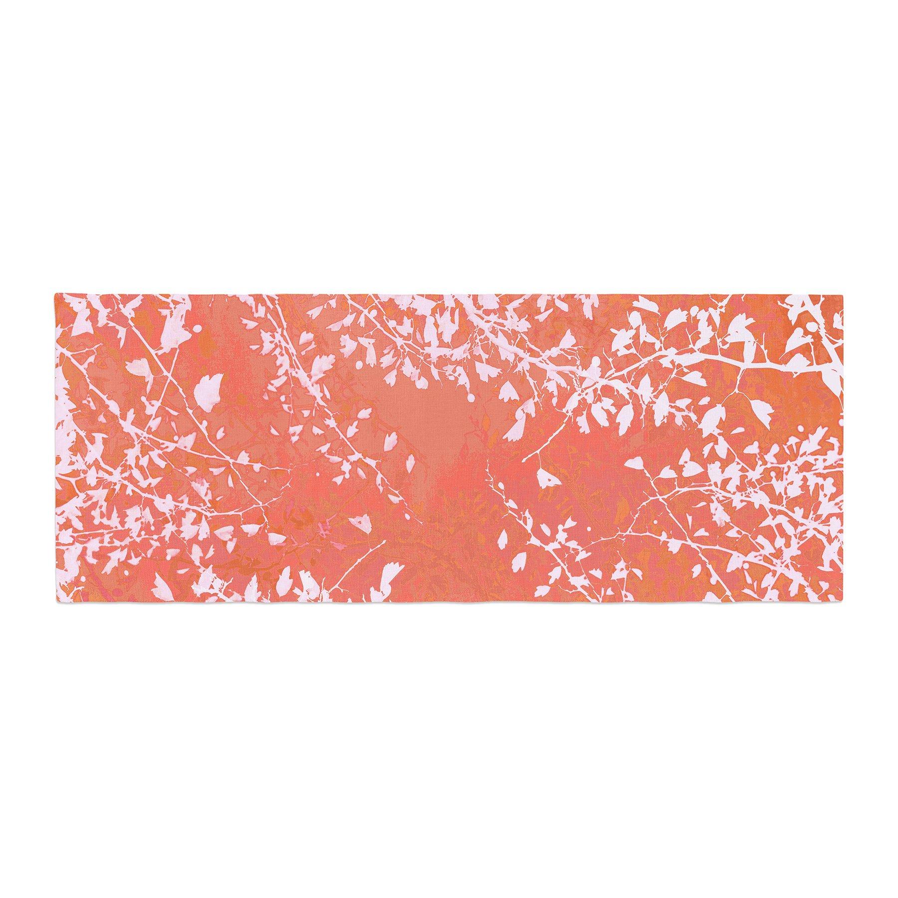 Kess InHouse Iris Lehnhardt Twigs Silhouette Coral Orange Bed Runner, 34'' x 86''
