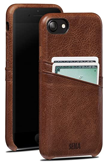 huge discount eae84 bf601 Sena Snap On Wallet Premium All Leather Wallet Drop Safe Snap On Case  Iphone 7 - Cognac