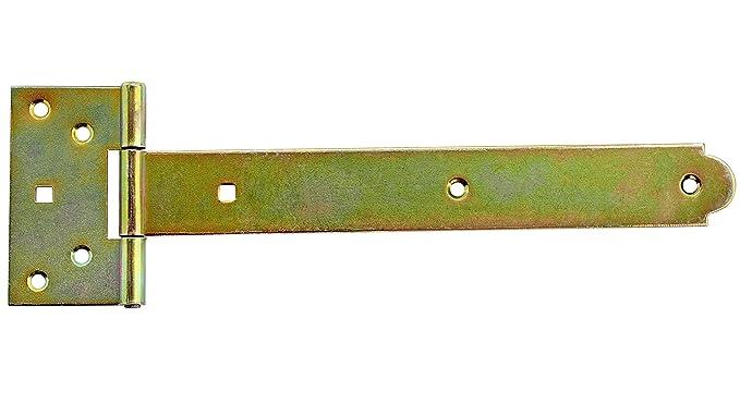 Kreuzgehänge T-Scharniere T-Bänder Gerollt 350 mm Halbschwere Gelb Verzinkt.