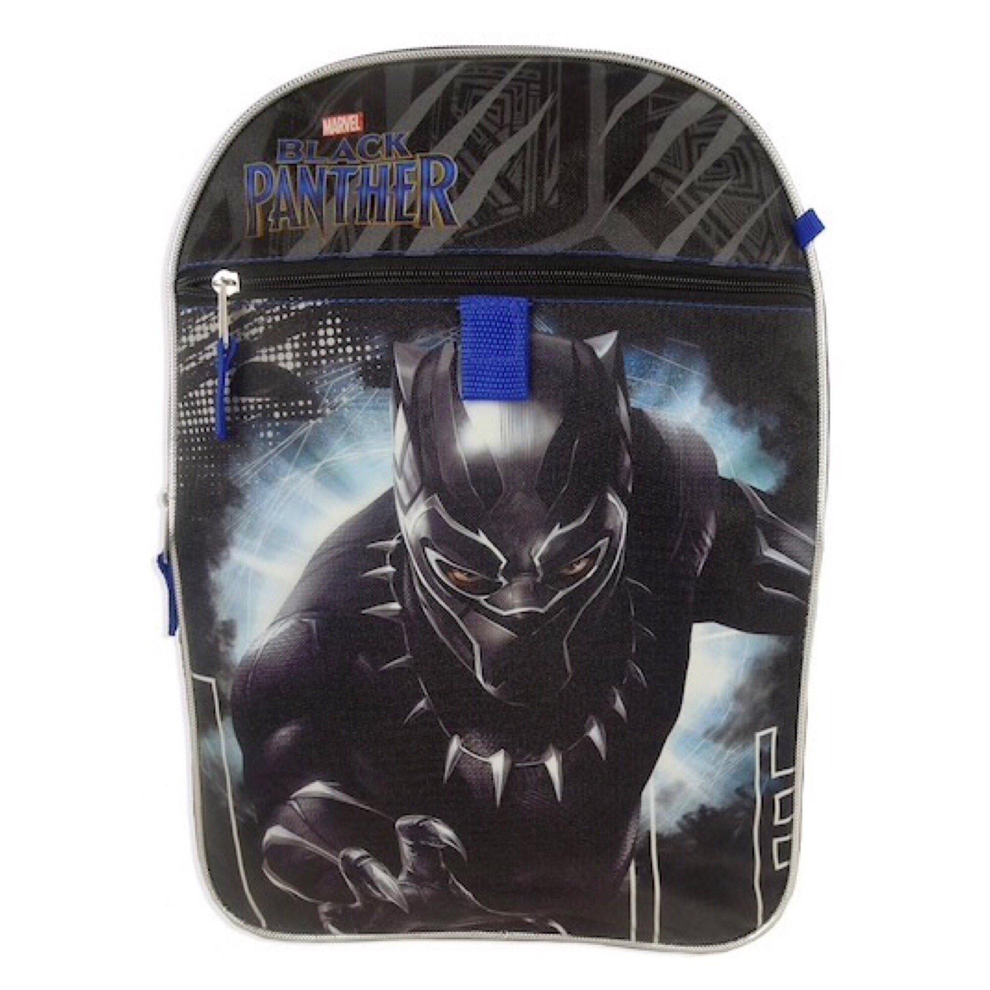 Kids - Marvel Black Panther Backpack, Lunchbox, Pencil Case, Water Bottle & Carabiner Set by Black Panther (Image #2)