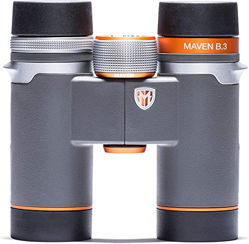 Maven B3 10X30mm ED Compact Binoculars Gray Orange
