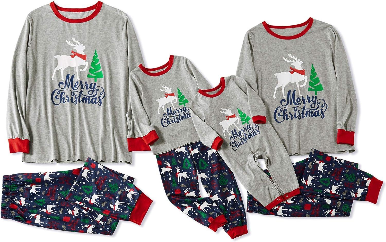 Yaffi - Conjunto de Pijama con diseño de Ciervo navideño y ...
