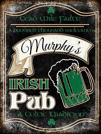 VictorJoan Cartel personalizado de pub irlandés, letrero de ...