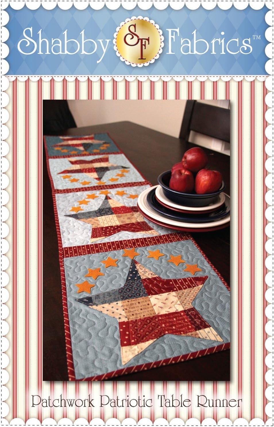 Patchwork camino de mesa patriótico patrón por – telas 12,5