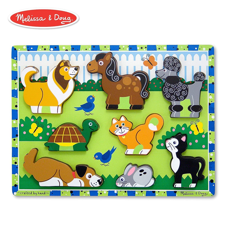 Melissa Doug Pets Wooden Chunky Puzzle 8 Pcs