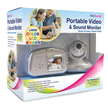 Amazon.com: bébésounds Portable Video a color y sonido ...