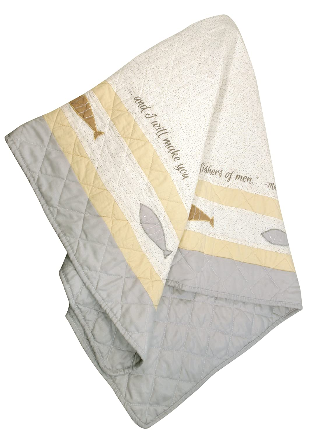 a1f4b07377a5 Amazon.com   Stephan Baby Pieced and Embroidered Crib Quilt with ...