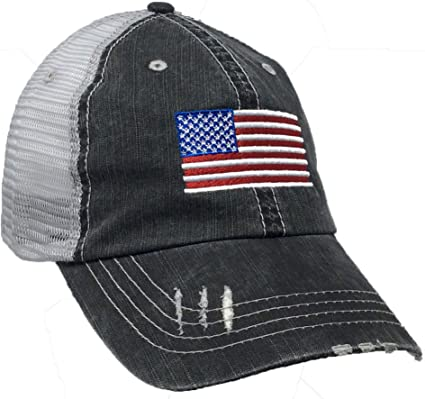 NAVY Snapback Cap Hat US Military Distressed Trucker Hats USA United States U.S