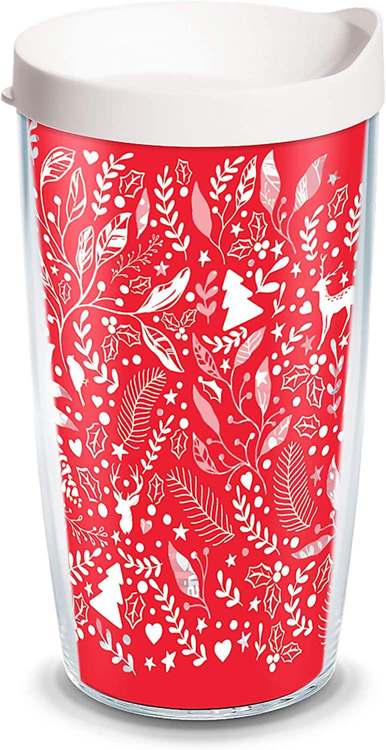 Tervis 1334119 Foliage And Fern Insulated Tumbler With Wrap And White Travel Lid Tritan 16 Fluid Ounces Clear Amazon Co Uk Kitchen Home