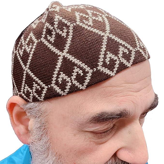 94f48fb82 Premium Chenille Wool Stretch Knit Turkey KUFI Cap Hat Muslim Men ...