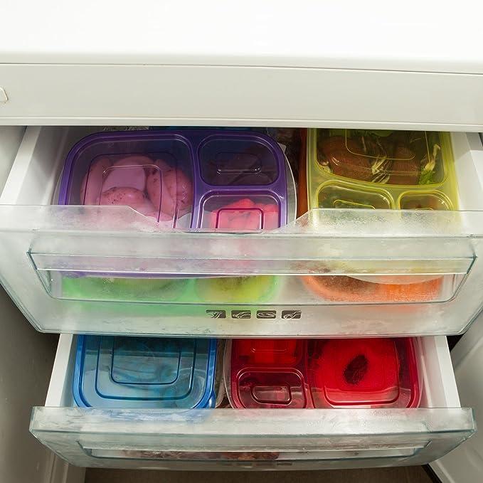 Caja de almuerzo Fun Life Bento Box contenedores Herm/éticos de 2 compartimentos con cuberter/ía reutilizable caja de salsa estilo japon/és lonchera para microondas congelador lavavajillas