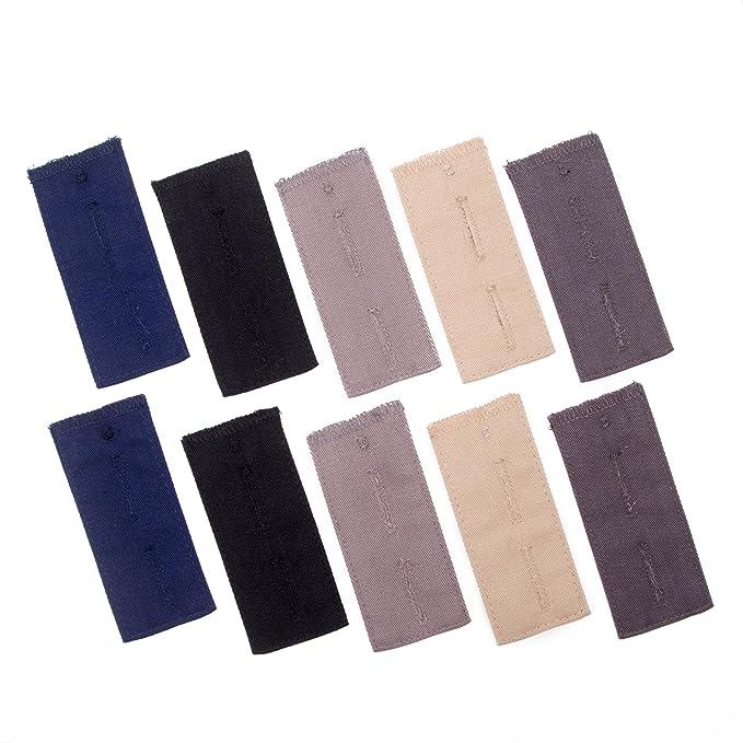 10 piezas extensores de cintura ajustable para traje pantalones y pantalones