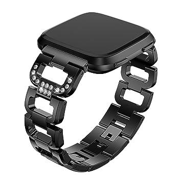 Amazon.com: wenicaca Smartwatch bandas para Fitbit Versa ...