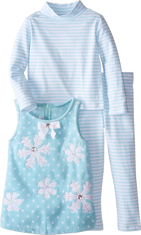 Bonnie Jean Little Girls Snowflake Fleece Coat with Hat