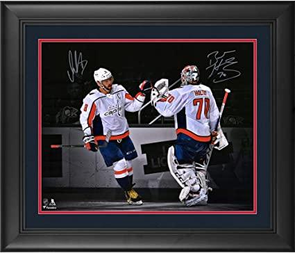 Alex Ovechkin   Braden Holtby Washington Capitals Deluxe Framed Autographed  16 quot  x 20 quot  Spotlight 9cb34b825