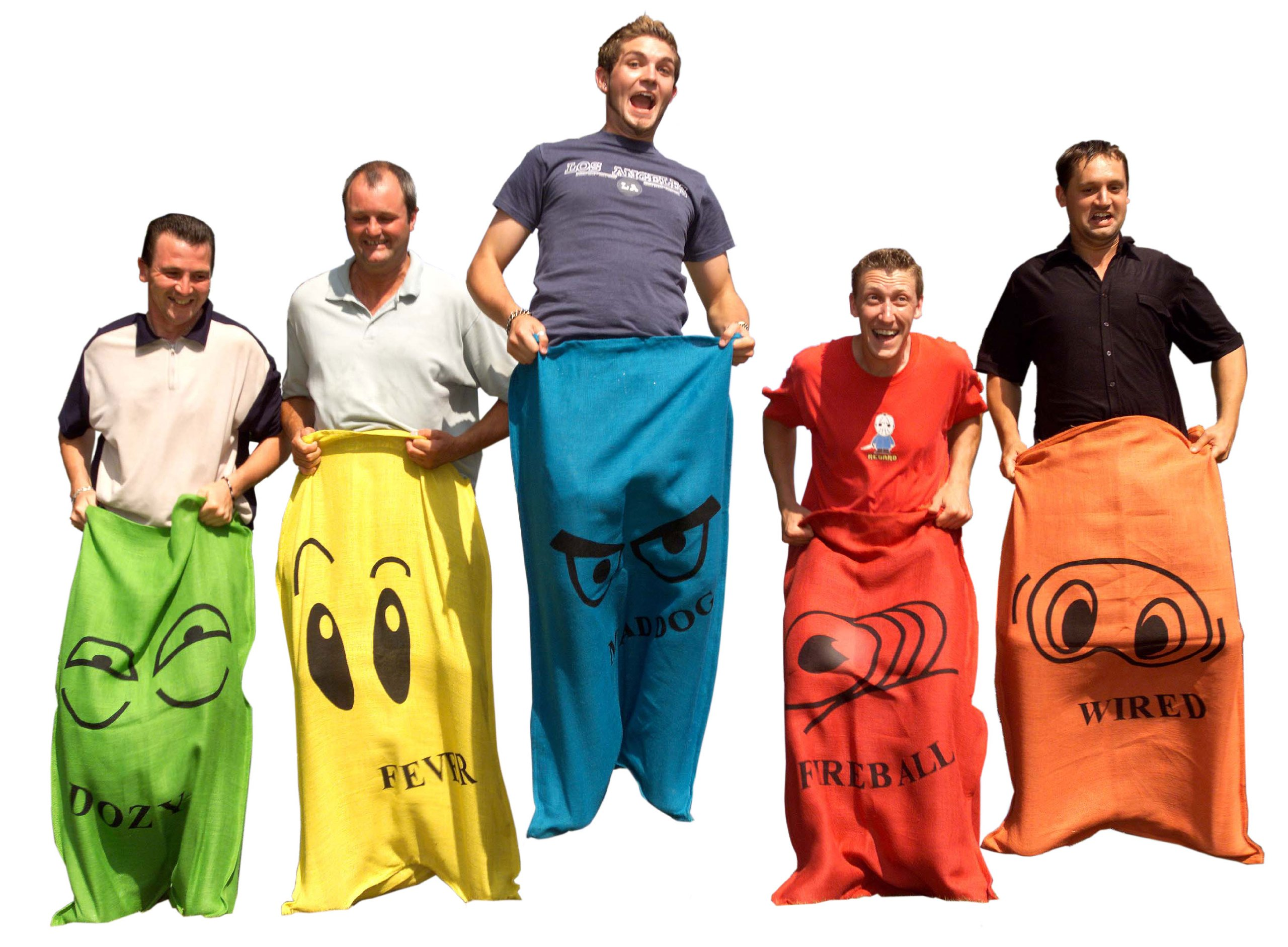 Garden Games Sack Race - 5 Adult Sized Hessian Bags for Racing by Garden Games