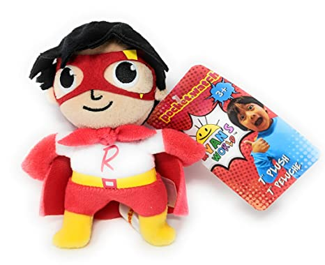 "Ryans World 7"" Inch Plush Toy Red Titan Superhero"