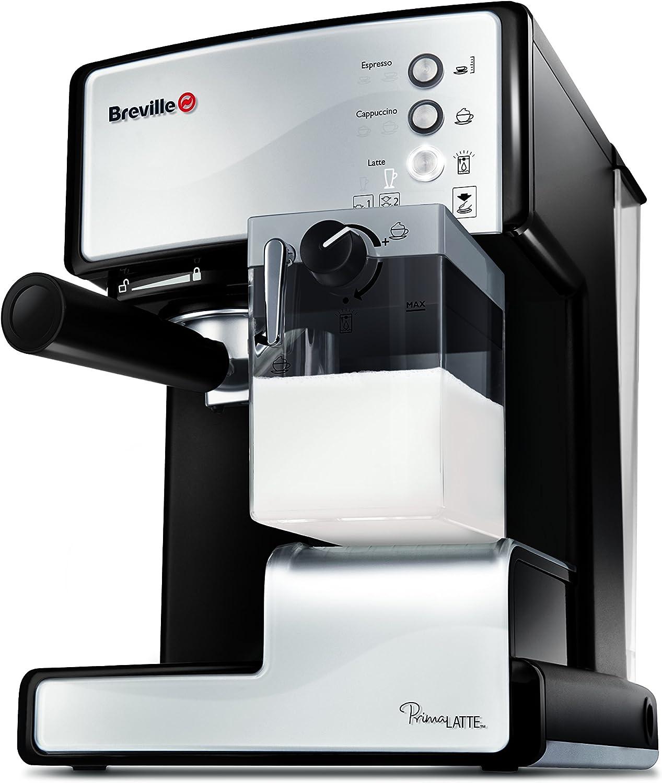 Breville VCF045X - Cafetera de expreso, color blanco y negro: Amazon.es: Hogar