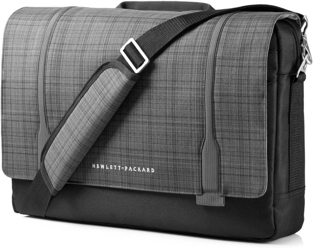 Sacoche pour ordinateur portable Plaid gris- Tissage noir HP Slim Ultrabook Messenger 15-6- pour EliteBook Folio 1040 G1