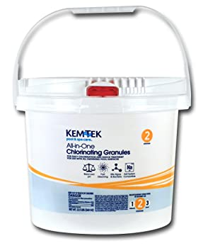 Kem-Tek 005 Pool and Spa All-in-One Concentrated Chlorinating Granules