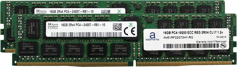 Adamanta 32GB (2x16GB) Server Memory Upgrade Compatible for HP Z840 Workstation Hynix Original DDR4 2400MHZ PC4-19200 ECC Registered Chip 2Rx4 CL17 1.2v DRAM RAM