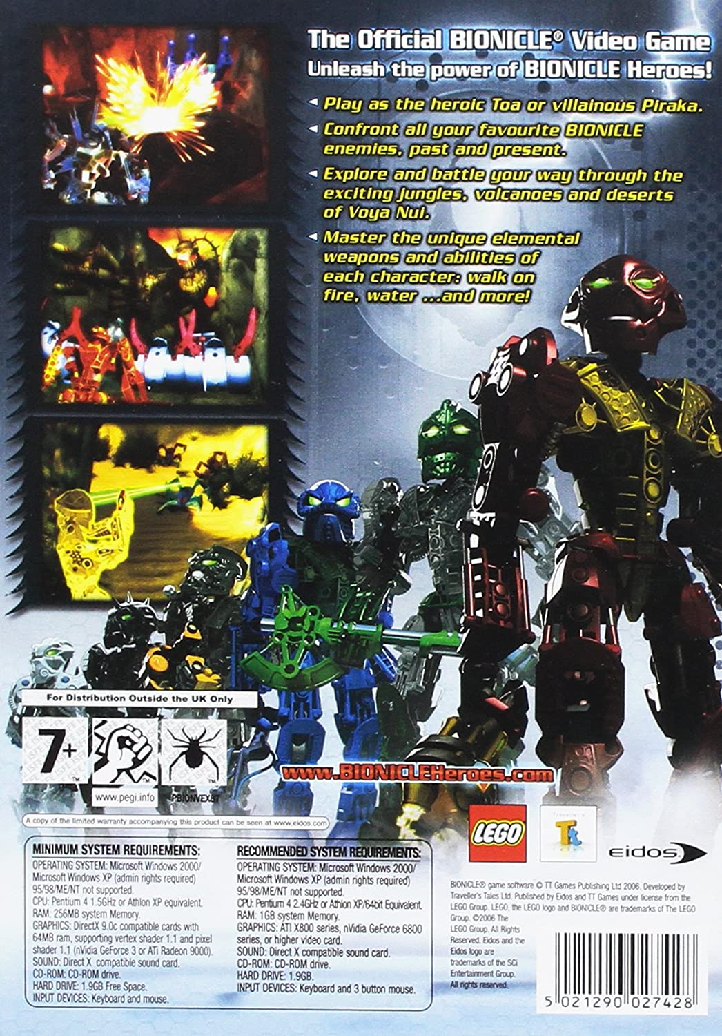 Amazoncom Lego Bionicle Heroes Uk Video Games