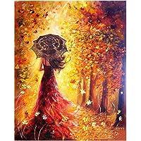 Pintar por Numeros,Digital Bricolaje Hermosa Chica Pintura al