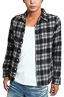 インプローブス ネルシャツ チェックシャツ カジュアルシャツ メンズ