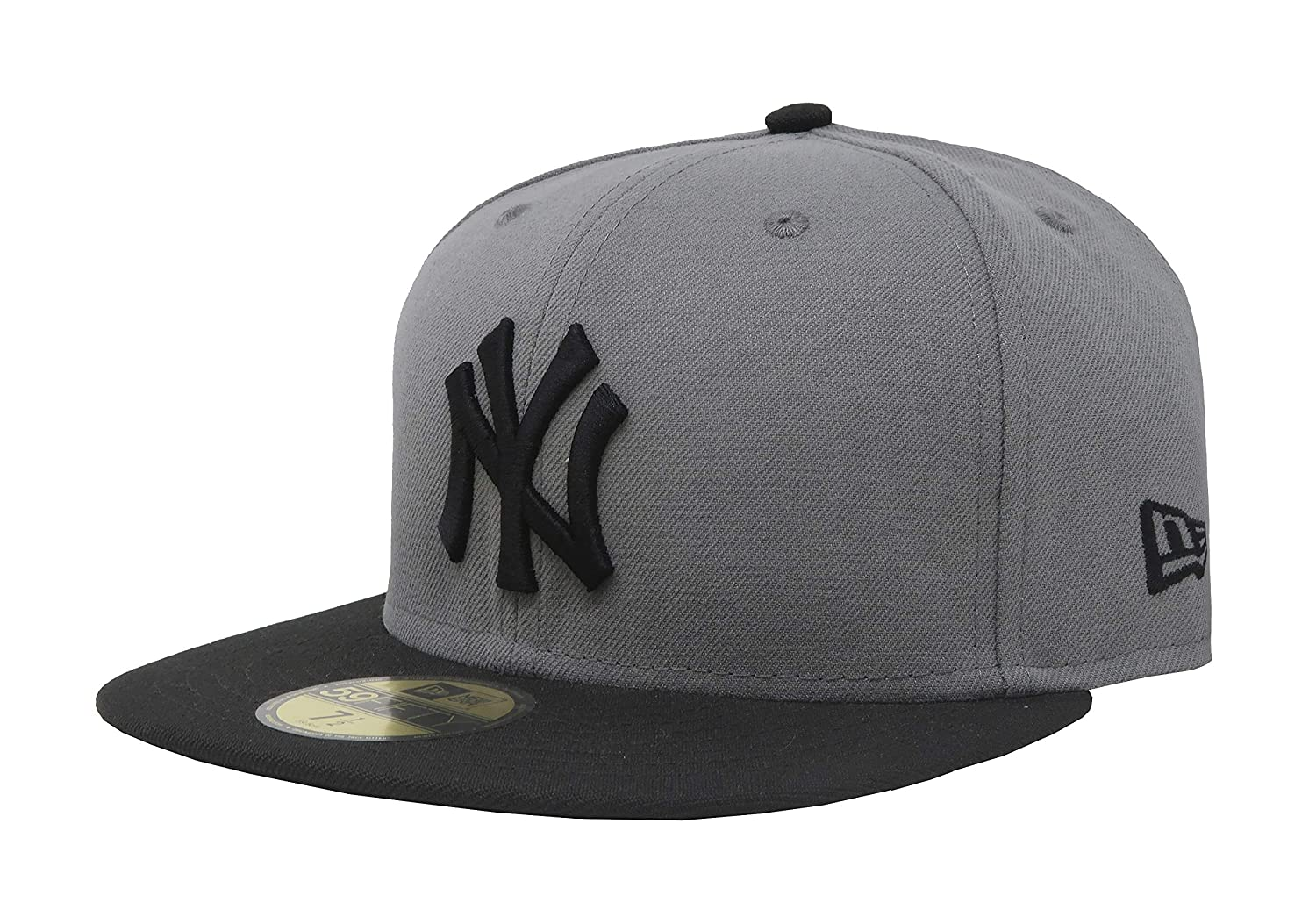 f55e00364b473 Amazon.com   New Era 59Fifty Hat New York Yankees MLB Basic Storm Gray Black  Fitted Cap   Sports   Outdoors