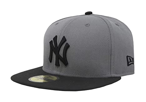 4967cbcd12c New Era 59Fifty Hat New York Yankees MLB Basic Storm Gray Black Fitted Cap (