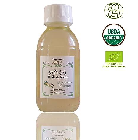 Apia – Aceite de Ricino Virgen Certificado Bio, 100% Pure y Natural – 125