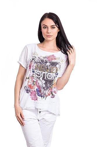 Abbino 150d Shirts Tops para Mujeres - Hecho en ITALIA - 4 Colores - Entretiempo Primavera Verano Ot...