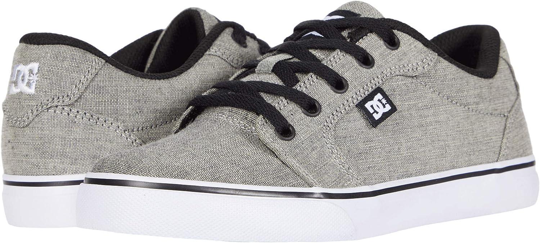 DC Kids' Anvil Skate Shoe Grey Size: 11