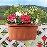 Vaso balcone fioriera doppia Klunia Bama cm 50 cod. 30235