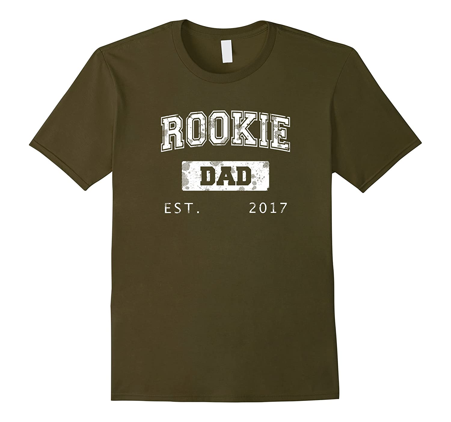 Mens Christmas 2017 Rookie First Time Dad Gift T-Shirt-TH