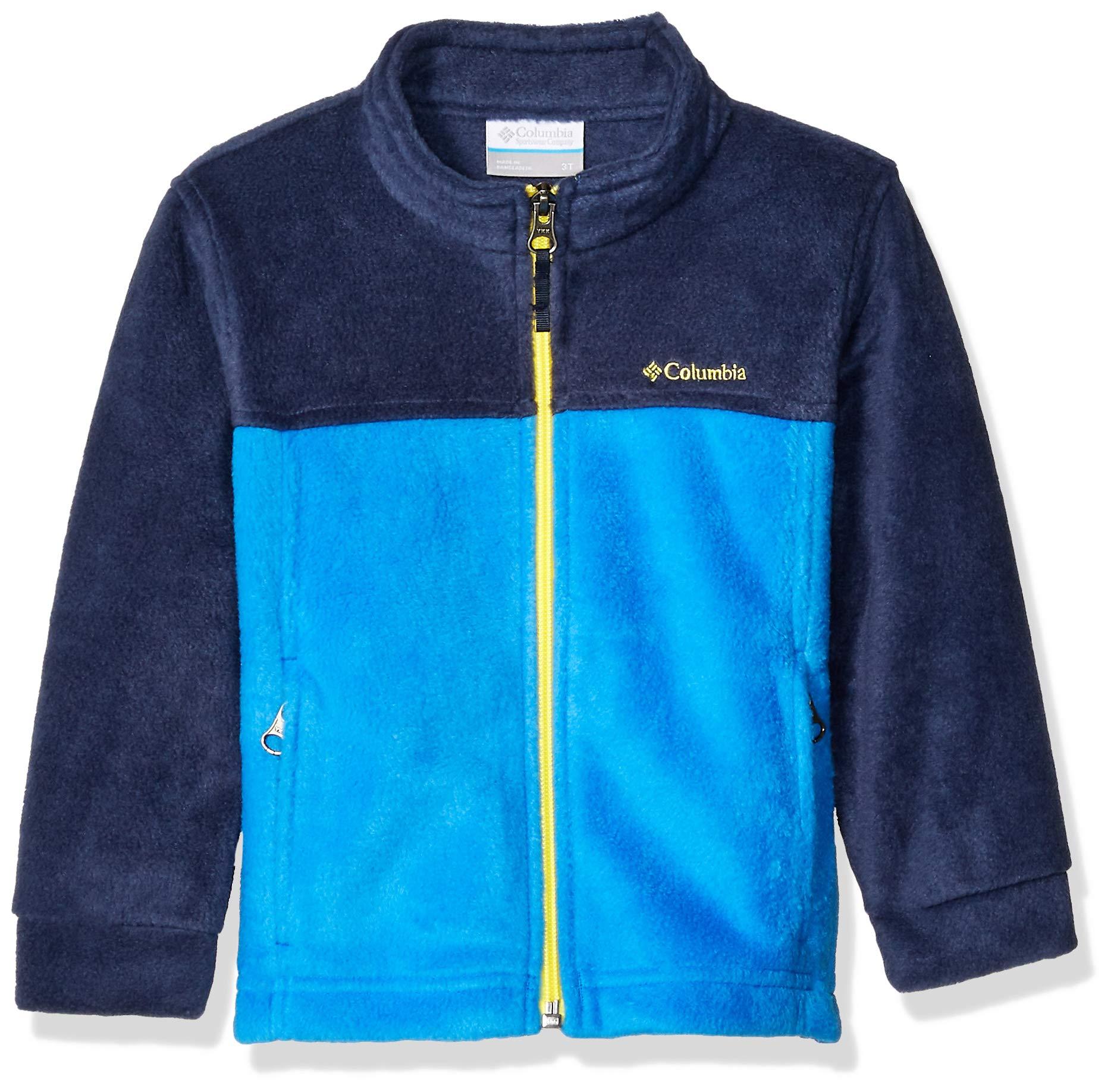 Columbia Boys' Toddler Steens Mt II Fleece, Collegiate Navy/Super Blue, 3T