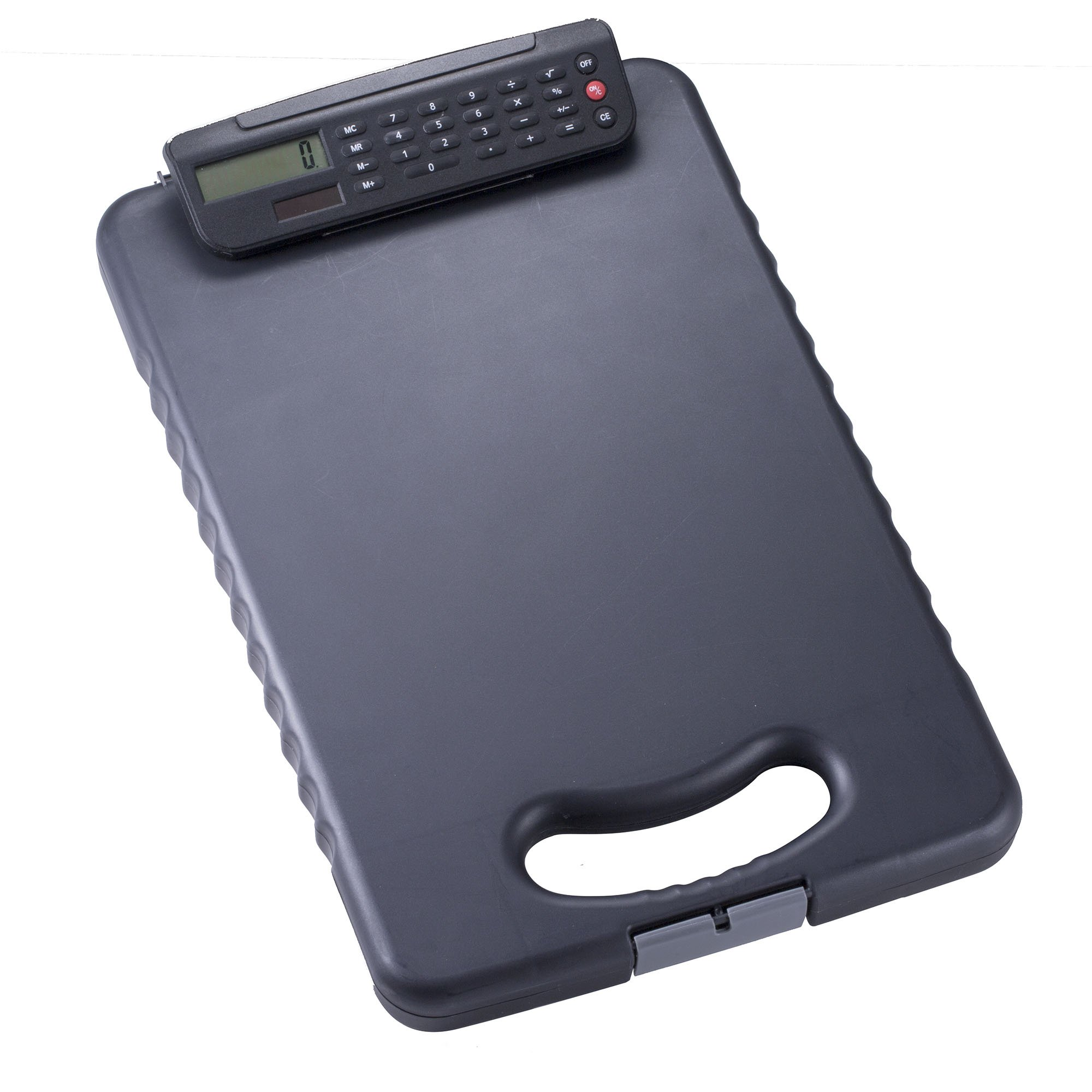 Officemate Tablet Clipboard with Calculator, Letter/A4 Size, Charcoal (83334)