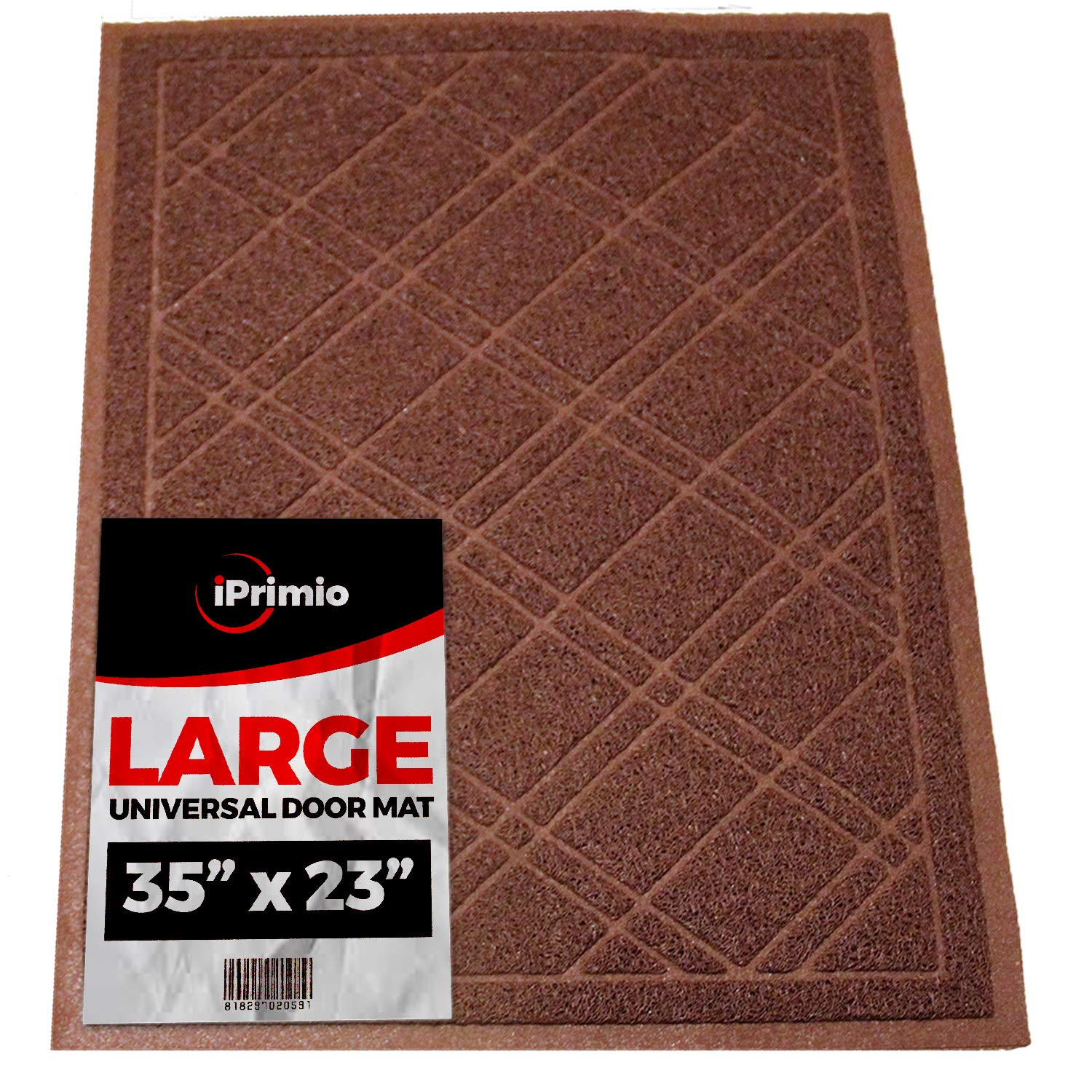 "SlipToGrip Universal Door Mat – Plaid Design Size 35"" x 23"" – Anti Slip, Durable & Washable – Duraloop Mesh Entrance Outdoor & Indoor Welcome Mat – Dirt and Dust Absorber by SlipToGrip"