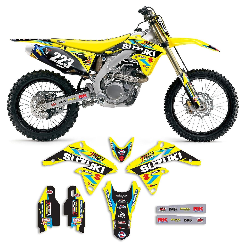 2010-2017 SUZUKI RMZ 250 Team JTech Motocross Graphics Kit Motocross Decal Enjoy MFG