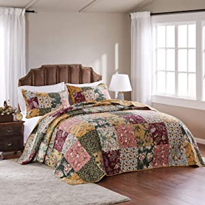 Greenland Home Antique Chic Queen 3-Piece Bedspread Set